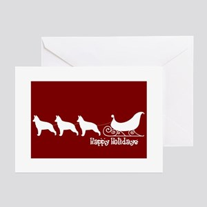 "G Shepherd ""Sleigh"" Greeting Cards"