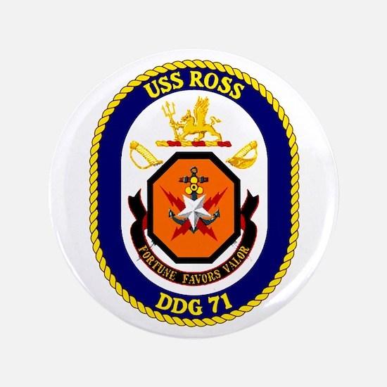 """USS Ross DDG 71 3.5"""" Button"""
