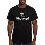 Oh Crop! Men's Fitted T-Shirt (dark)