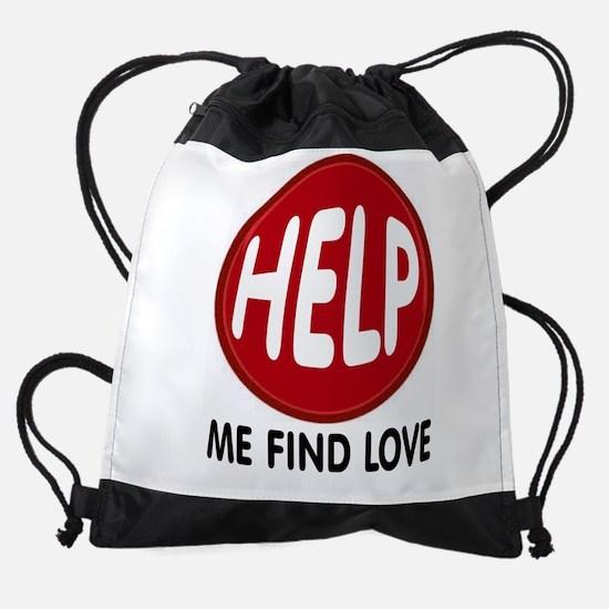 LOVE HELP Drawstring Bag
