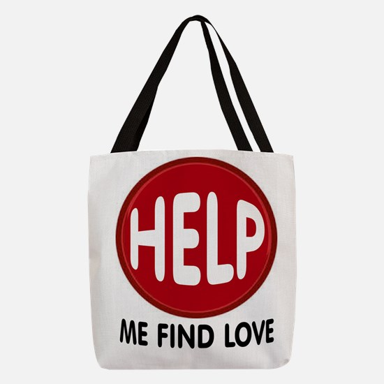 LOVE HELP Polyester Tote Bag