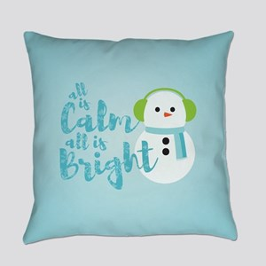All is Calm Snowman Everyday Pillow