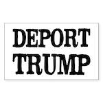 Deport Trump Liberal Politics Sticker (rectangle)