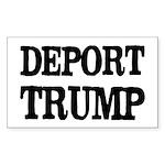Deport Trump Liberal Pol Sticker (rectangle 10 Pk)