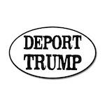 Deport Trump Liberal Politic 20x12 Oval Wall Decal