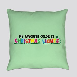 Christmas Lights Everyday Pillow