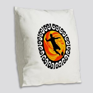GOAL Burlap Throw Pillow