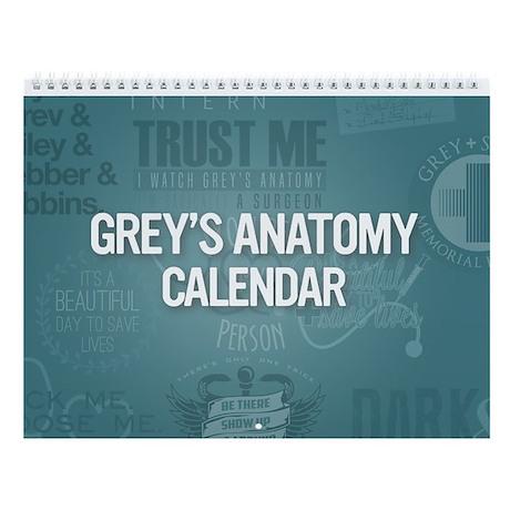 Grey's Anatomy 2017 Wall Calendar