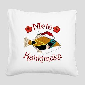 Christmas Humu Square Canvas Pillow