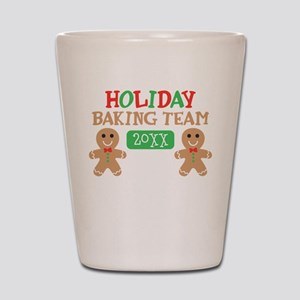 Holiday Baking Team Customizable Shot Glass
