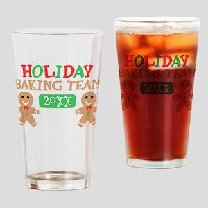 Holiday Baking Team Customizable Drinking Glass