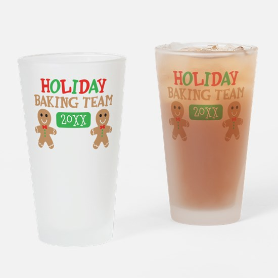 Holiday Baking Team Customizable Drinking Glass
