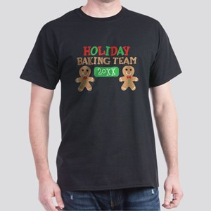 Holiday Baking Team Customizable Dark T-Shirt