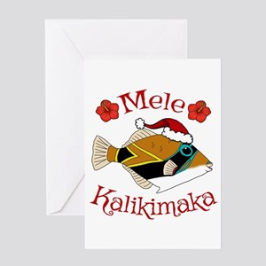Hawaiian christmas greeting cards cafepress christmas humu greeting cards m4hsunfo