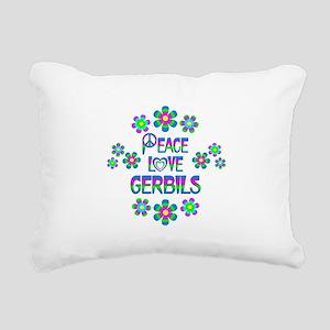 Peace Love Gerbils Rectangular Canvas Pillow