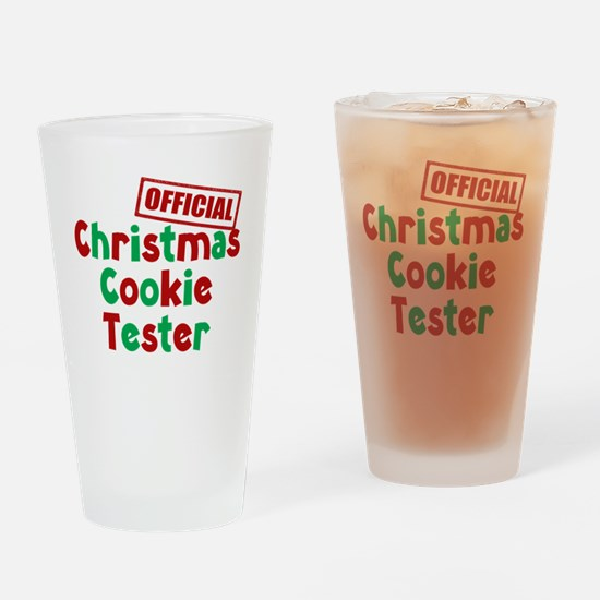 Christmas Cookie Tester Drinking Glass