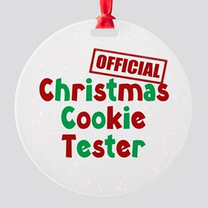 Christmas Cookie Tester Round Ornament