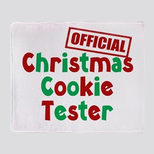 Christmas Cookie Tester Throw Blanket