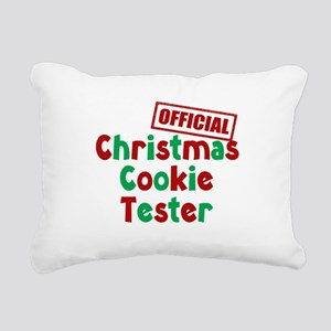 Christmas Cookie Tester Rectangular Canvas Pillow