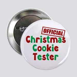 """Christmas Cookie Tester 2.25"""" Button (10 pack)"""