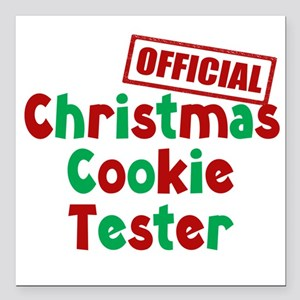 """Christmas Cookie Tester Square Car Magnet 3"""" x 3"""""""