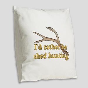 Shed hunter 1 Burlap Throw Pillow