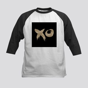 brushstroke black gold XOXO Baseball Jersey