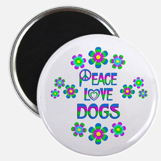 "Peace Love Dogs 2.25"" Magnet (10 pack)"