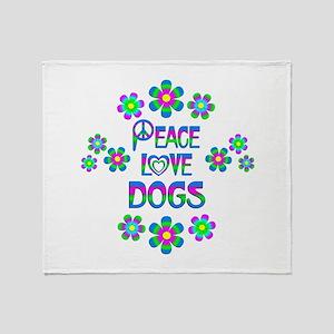 Peace Love Dogs Throw Blanket