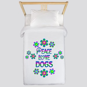 Peace Love Dogs Twin Duvet