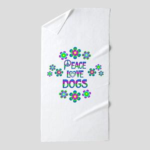 Peace Love Dogs Beach Towel