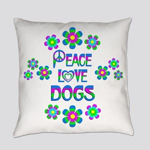 Peace Love Dogs Everyday Pillow