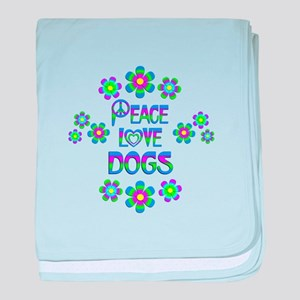 Peace Love Dogs baby blanket