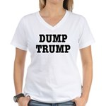 Dump Trump Liberal Politics Women's V-Neck T-Shirt
