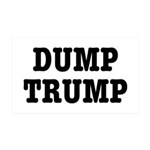 Dump Trump Liberal Politics 35x21 Wall Decal