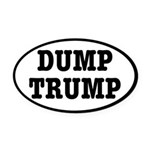 Dump Trump Liberal Politics Oval Car Magnet