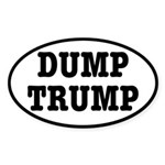 Dump Trump Liberal Politics Sticker (Oval 10 pk)