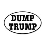 Dump Trump Liberal Politics 35x21 Oval Wall Decal