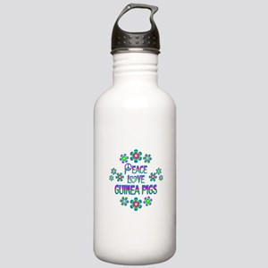 Peace Love Guinea Pigs Stainless Water Bottle 1.0L