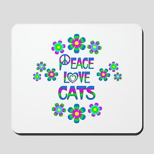 Peace Love Cats Mousepad