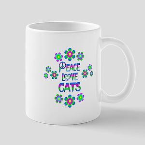 Peace Love Cats Mug