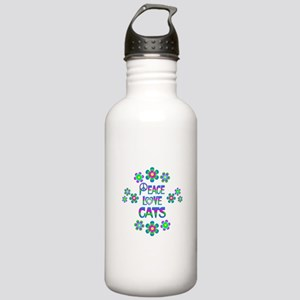 Peace Love Cats Stainless Water Bottle 1.0L