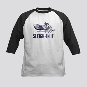 Sleigh-In It Funny Christmas Shirt Baseball Jersey