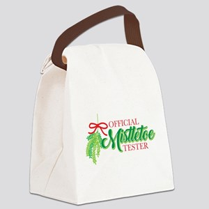 Mistletoe Tester Canvas Lunch Bag