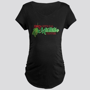 Mistletoe Tester Maternity Dark T-Shirt