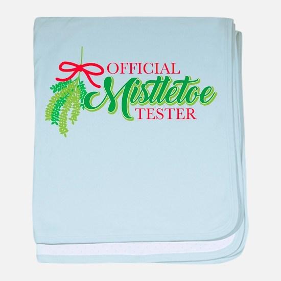 Mistletoe Tester baby blanket