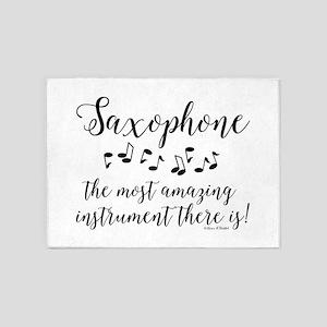 Amazing Saxophone 5'x7'Area Rug