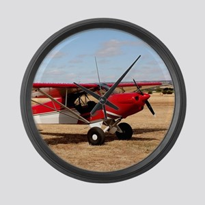 Sport Cub Plane, high wing aircra Large Wall Clock