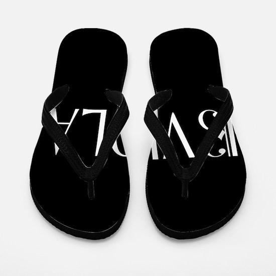 Viola with Alto Clef in Black & White Flip Flops