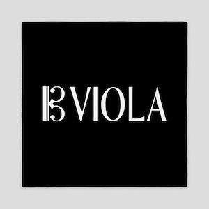 Viola with Alto Clef in Black & White Queen Duvet